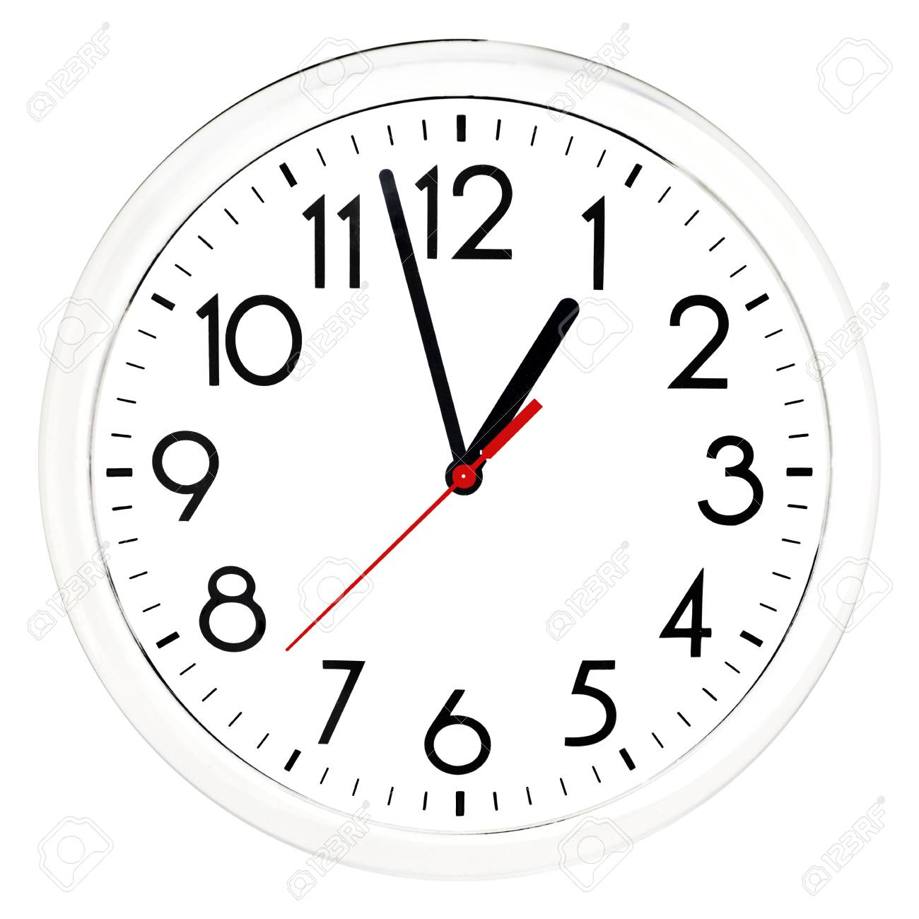 Schwarze Wanduhr Stock Photo