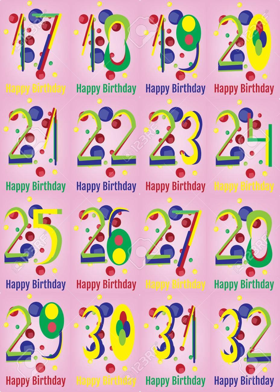 Decoration Carte Anniversaire Adulte 16 Pouce Anglais Alphabet