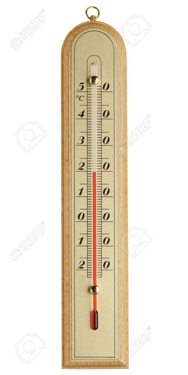 Raum Thermometer Stock Photo