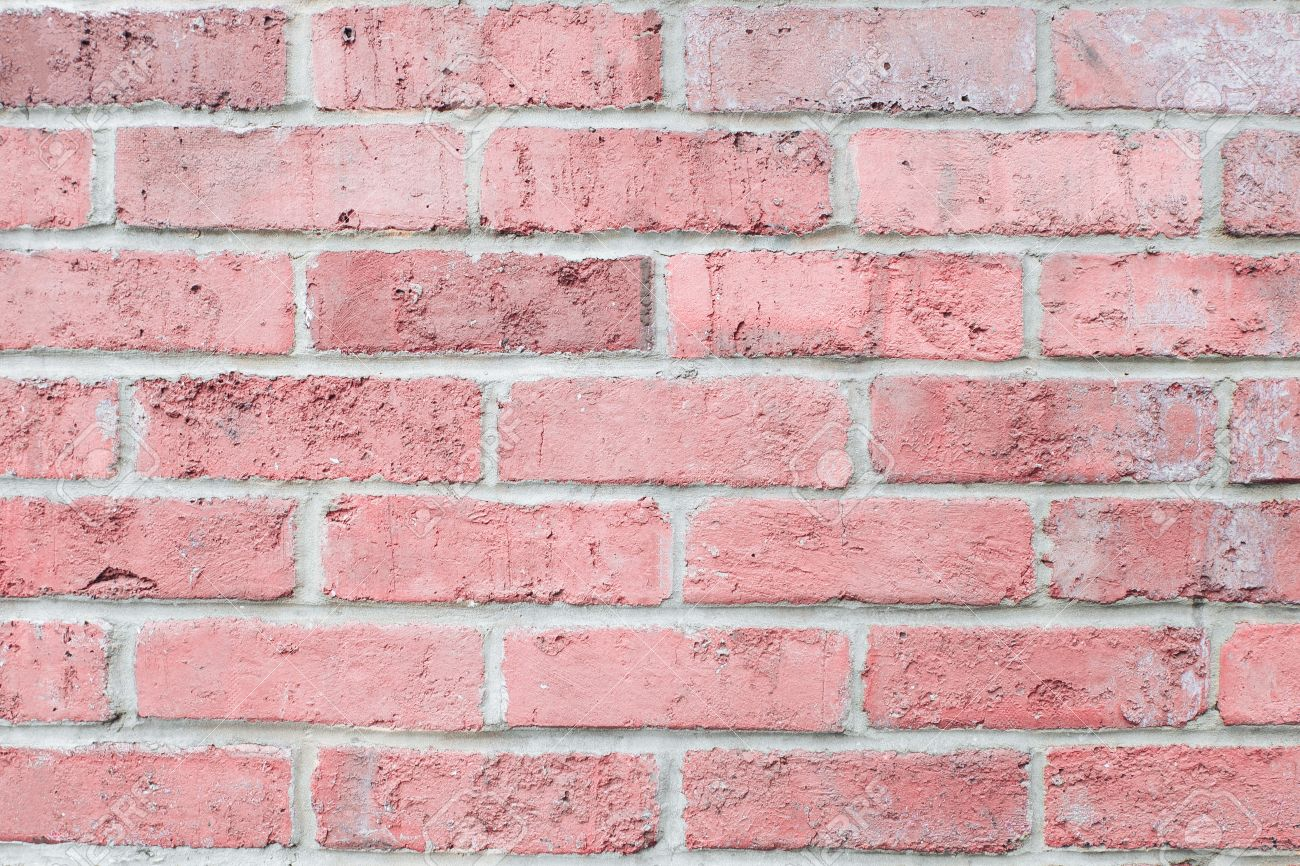 Brick Wall Design Vintage Pastel Pink Color Brick Wall Horizontal Background For