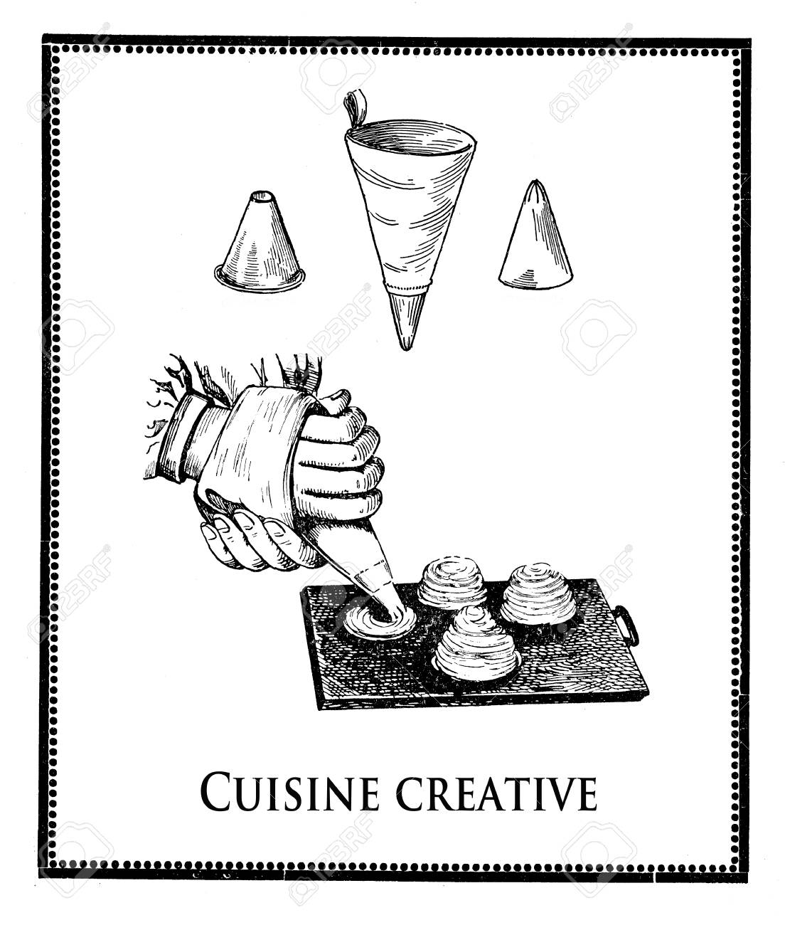 Art Et Decoration Cuisine Stock Illustration