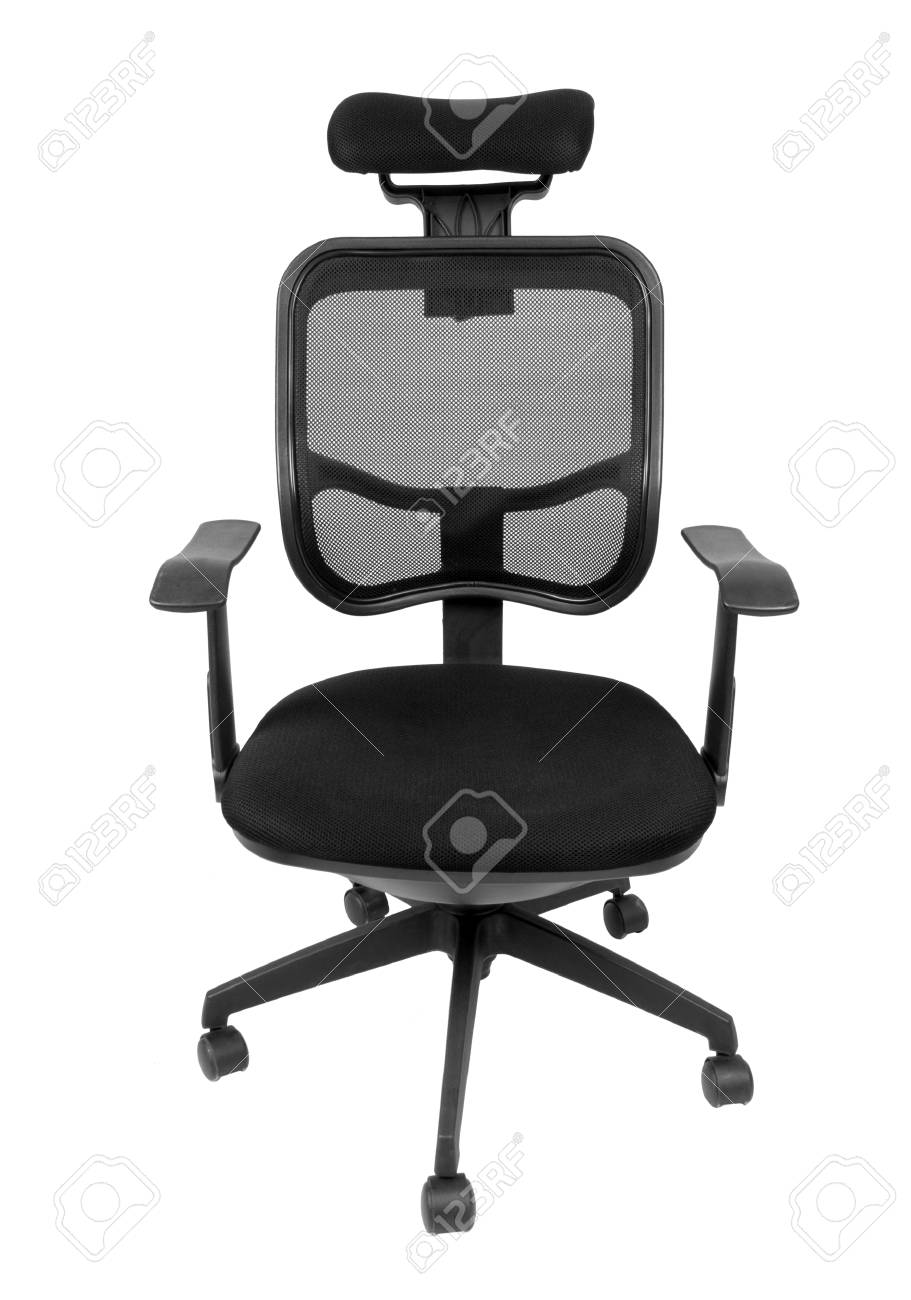 Spinning Chair Black Office Spinning Chair Isolated On White Background