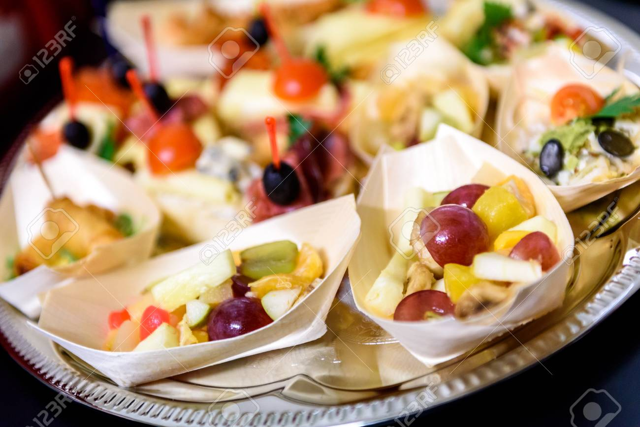 Kleine Party Snacks Stock Photo
