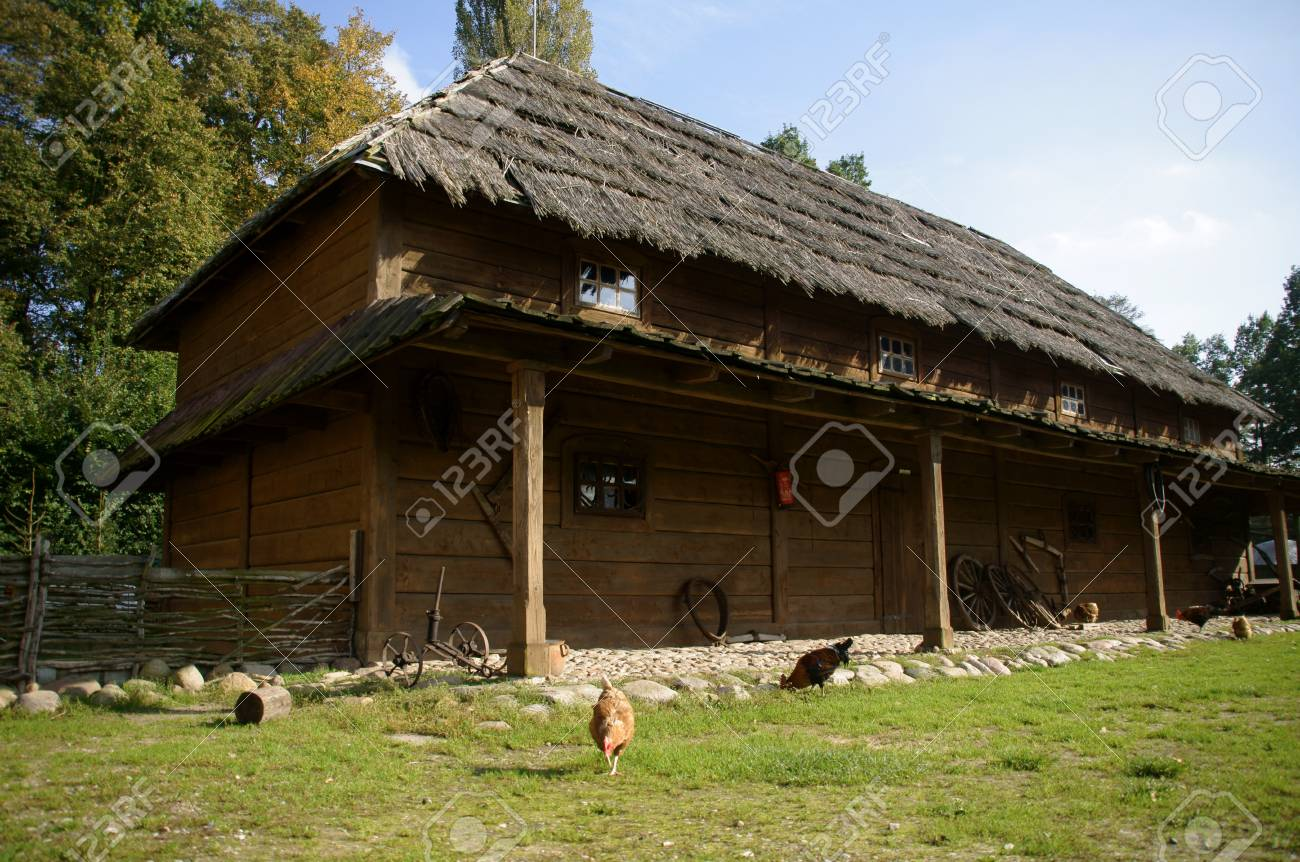 Ferienhaus In Polen Stock Photo