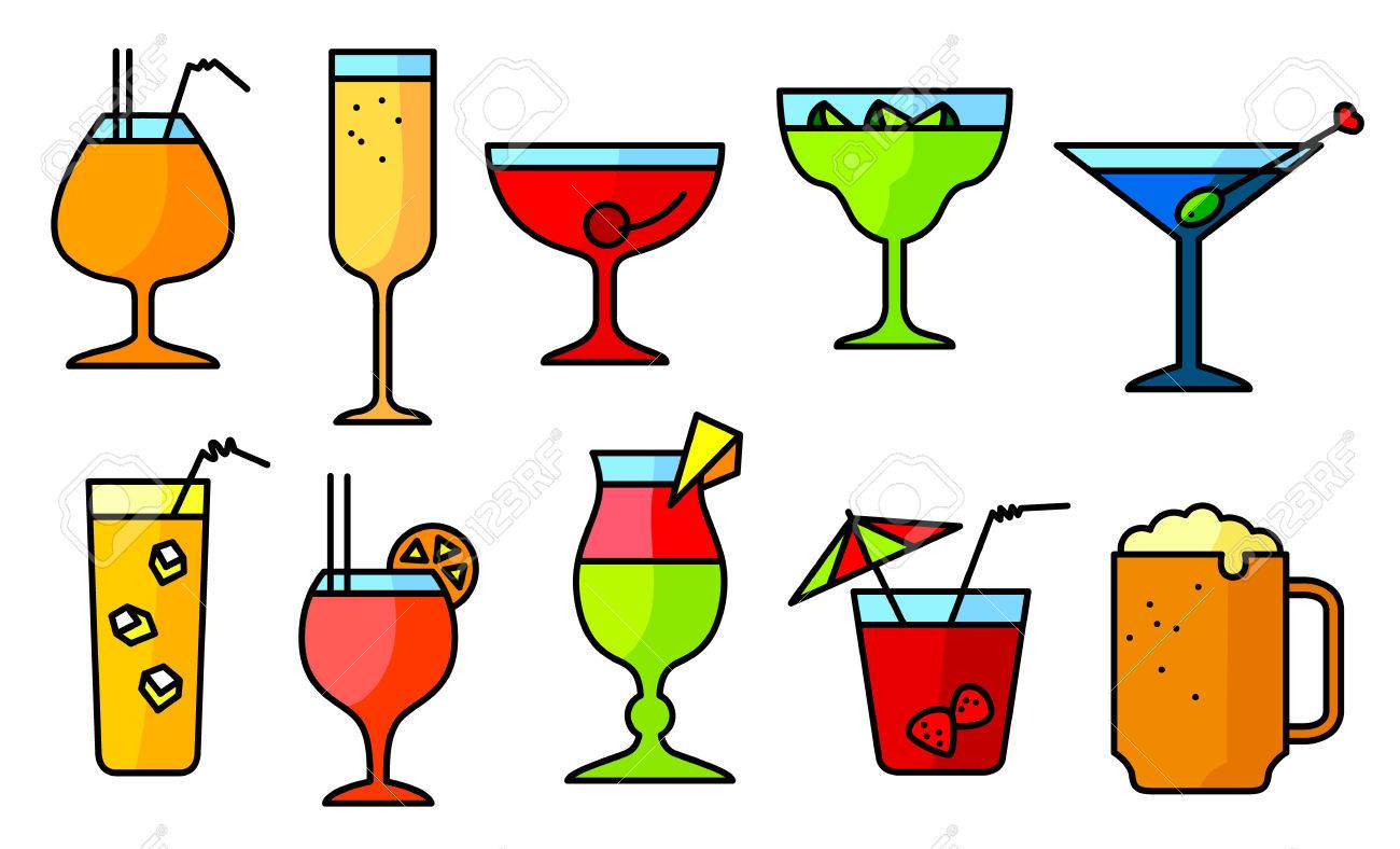 Einfache Cocktails Mit Alkohol Stock Photo