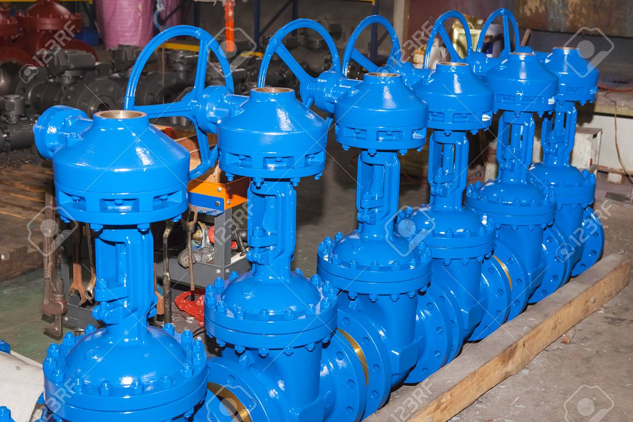 Industrial Forging Industrial Background From Part Of Valves For Power Oil Or Gas