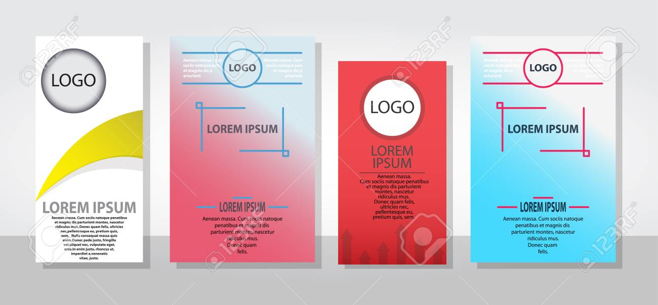Set Of Posters Flyers Pamphlet Brochure Cover Design Layout With - free pamphlet design