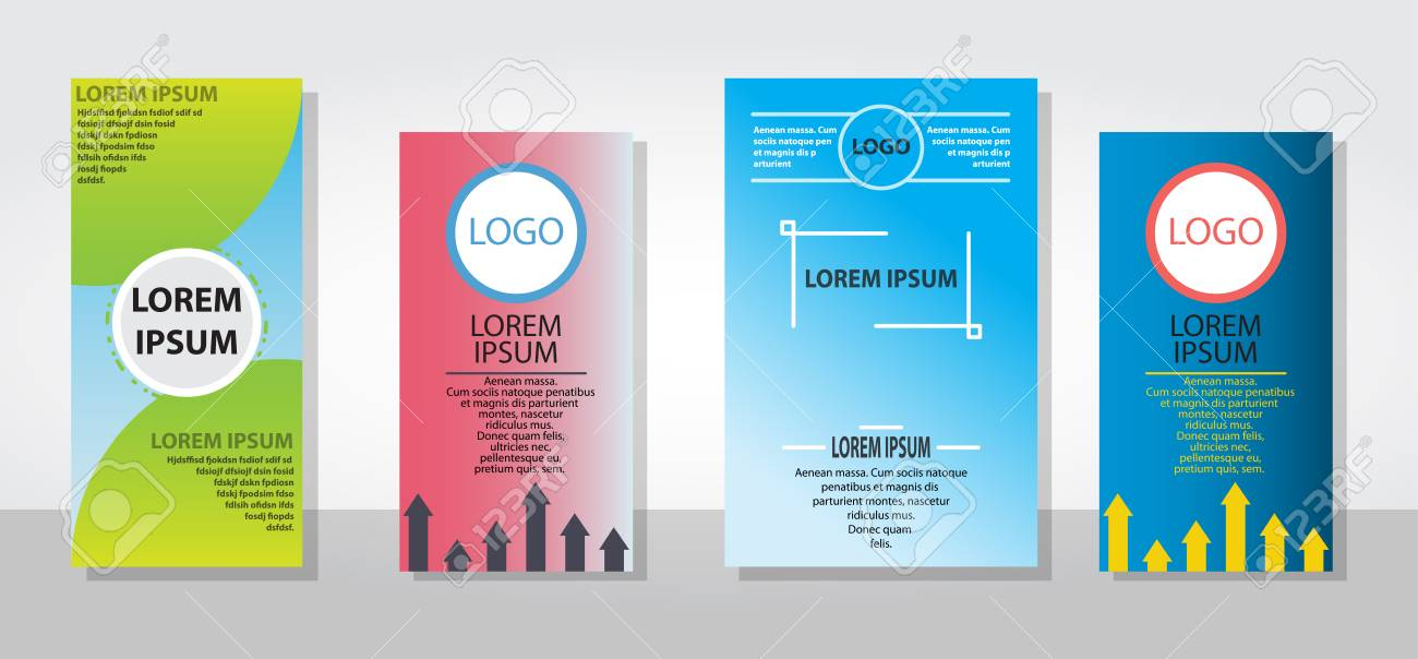 Set Of Posters Flyers Pamphlet Brochure Cover Design Layout With - pamphlet layout template