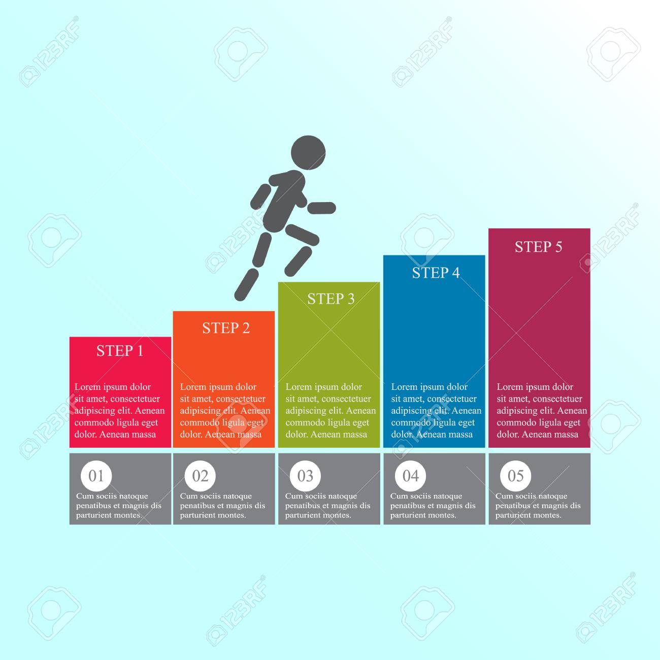 Business Step Modern Design For Business Steps Options Diagram Info Graphic