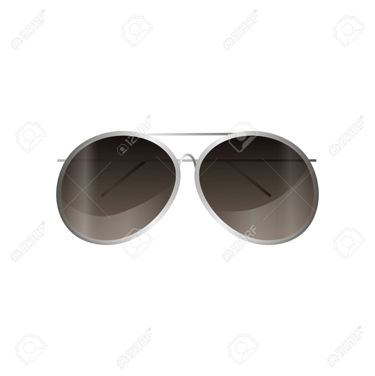 Mirror Frame Glasses Aviator Silver Frame Sunglasses Mirror Style For Daily Use