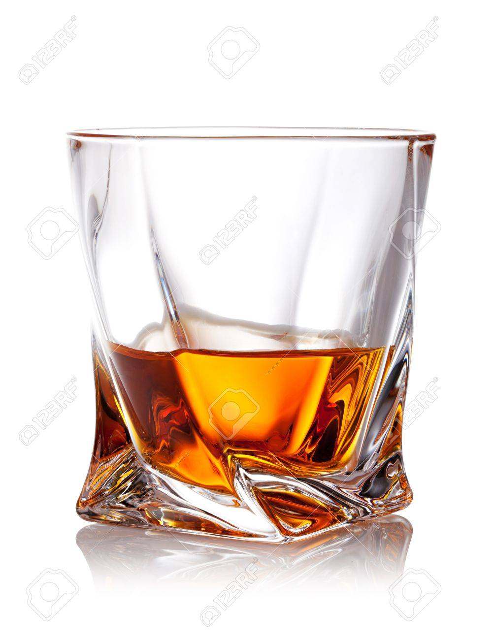 Verre De Whisky Glass Of Scotch Whiskey With Clipping Path