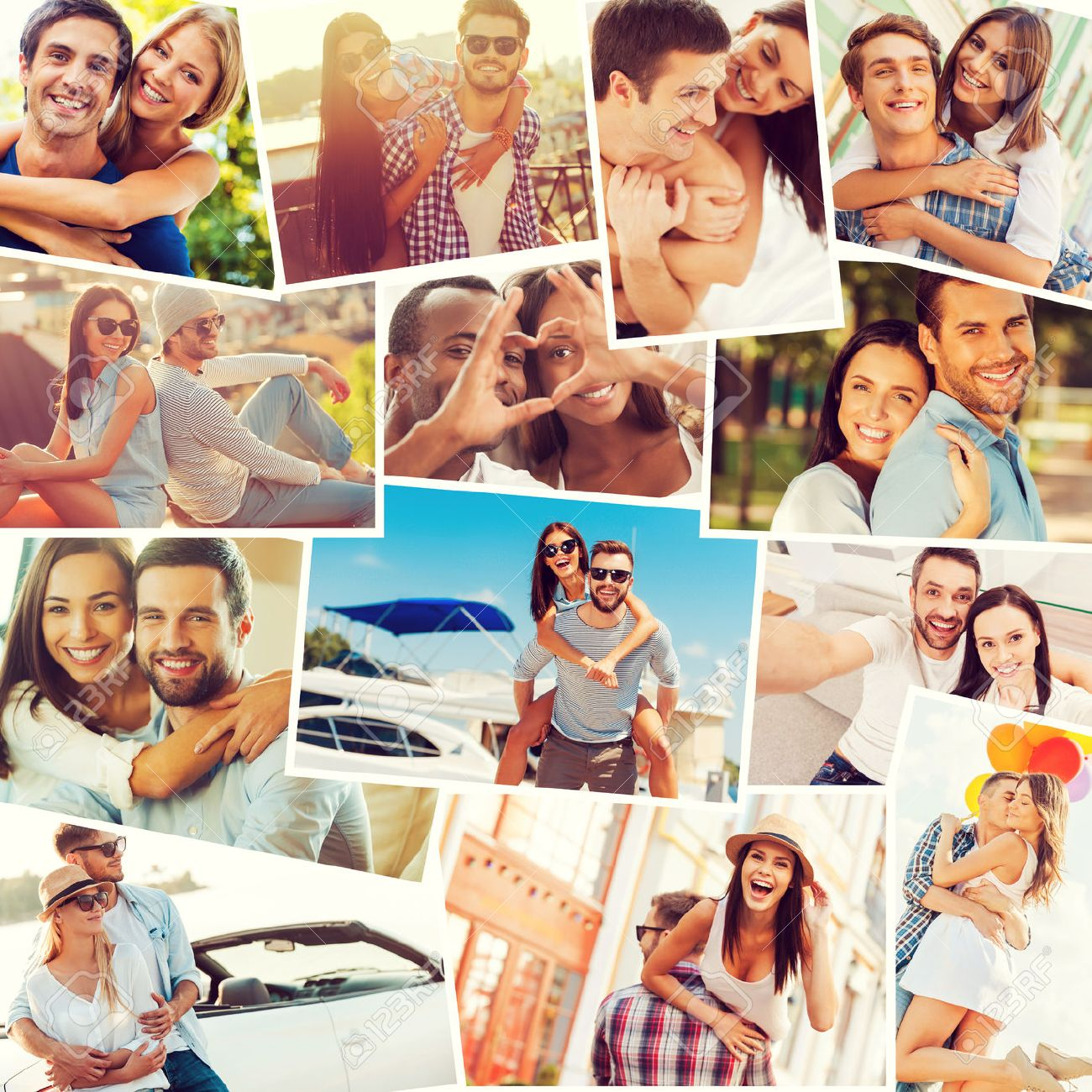 Collage Fotos Loving Couples Collage Of Diverse Multi Ethnic Loving Couples