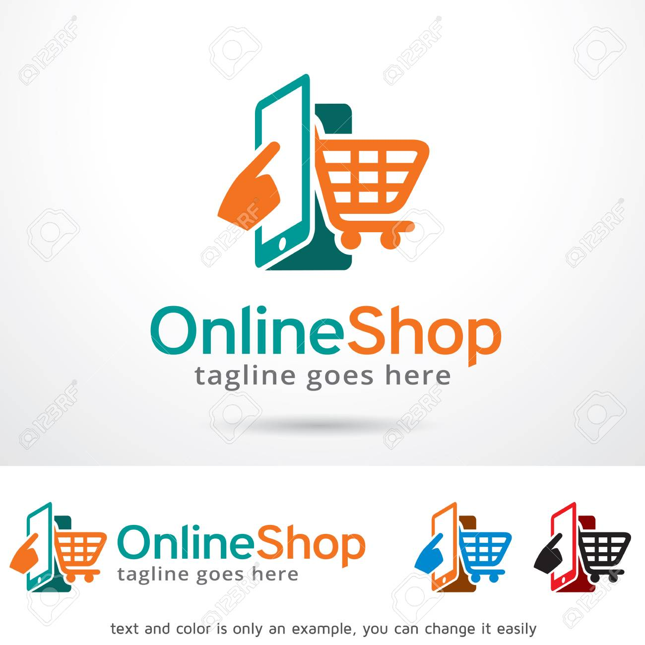 Design Online Shop Online Shop Logo Template Design Vector