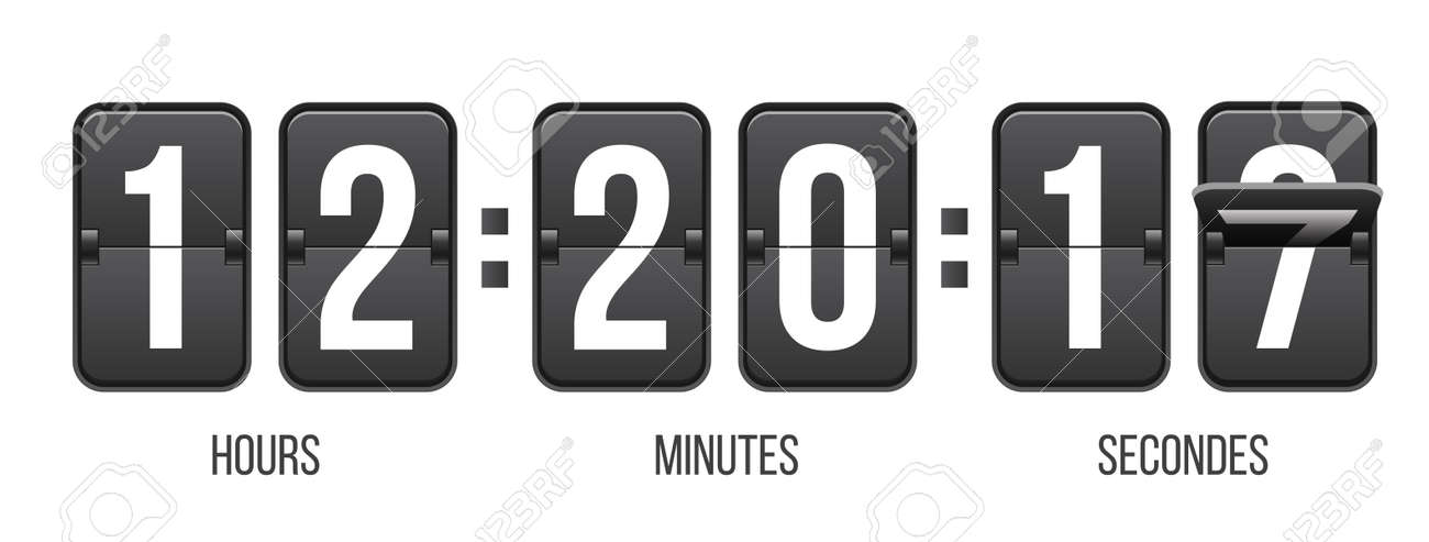 Creative Vector Illustration Of Countdown Timer With Different