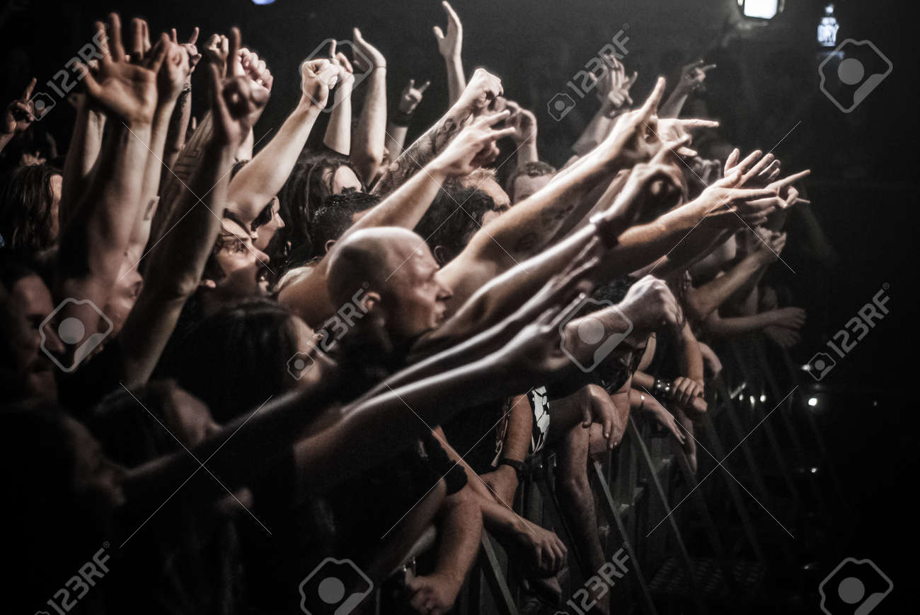 On Heavy Metal Fans At A Heavy Metal Concert