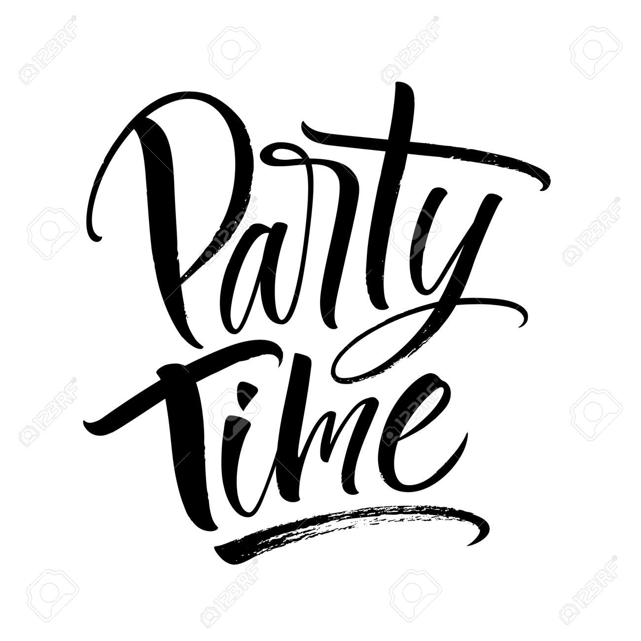 Party Time Party Time Lettering