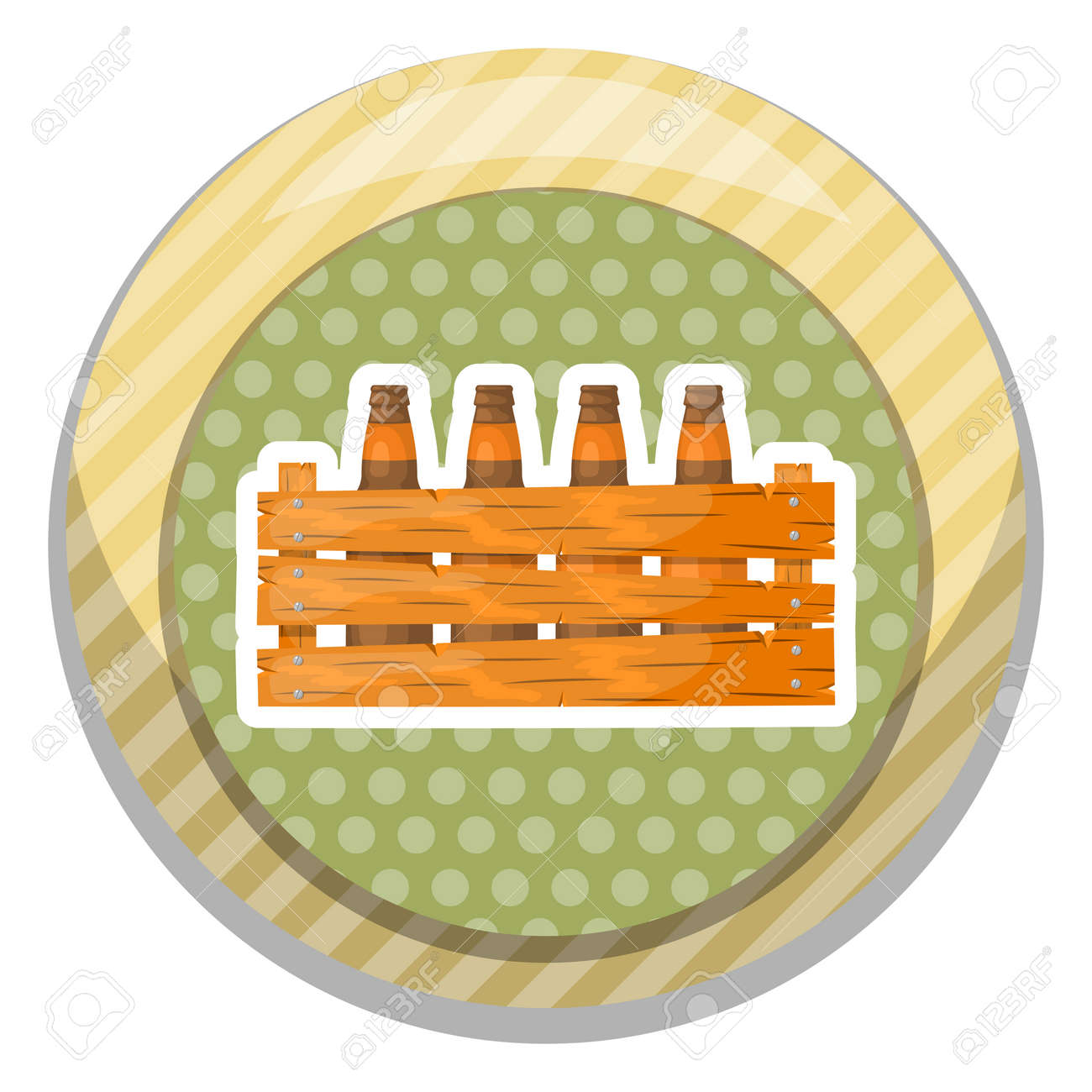 Bierkasten Clipart Beer Box Icon Vector Illustration In Cartoon Style