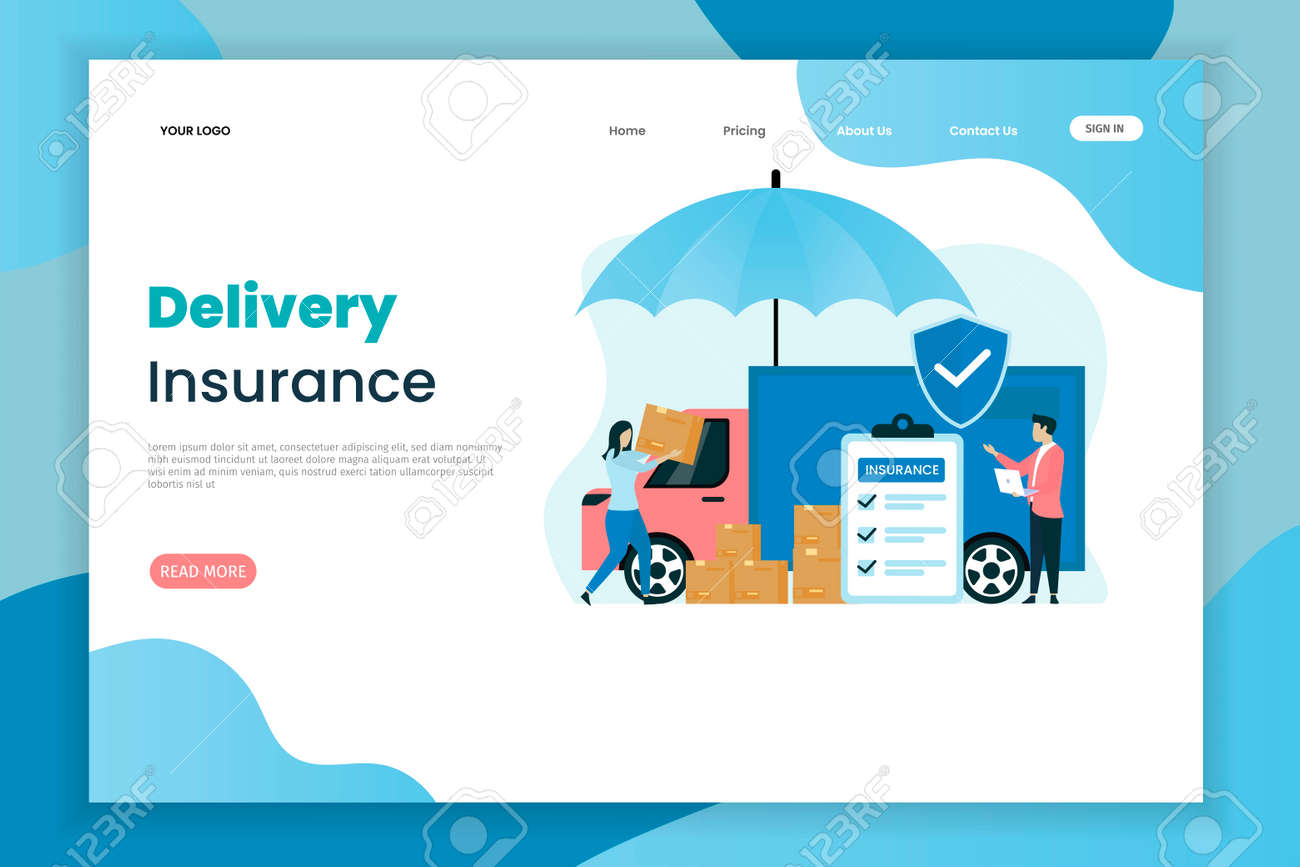 Delivery Insurance Vector Illustration Concept The Car Above Royalty Free Cliparts Vectors And Stock Illustration Image 138874103