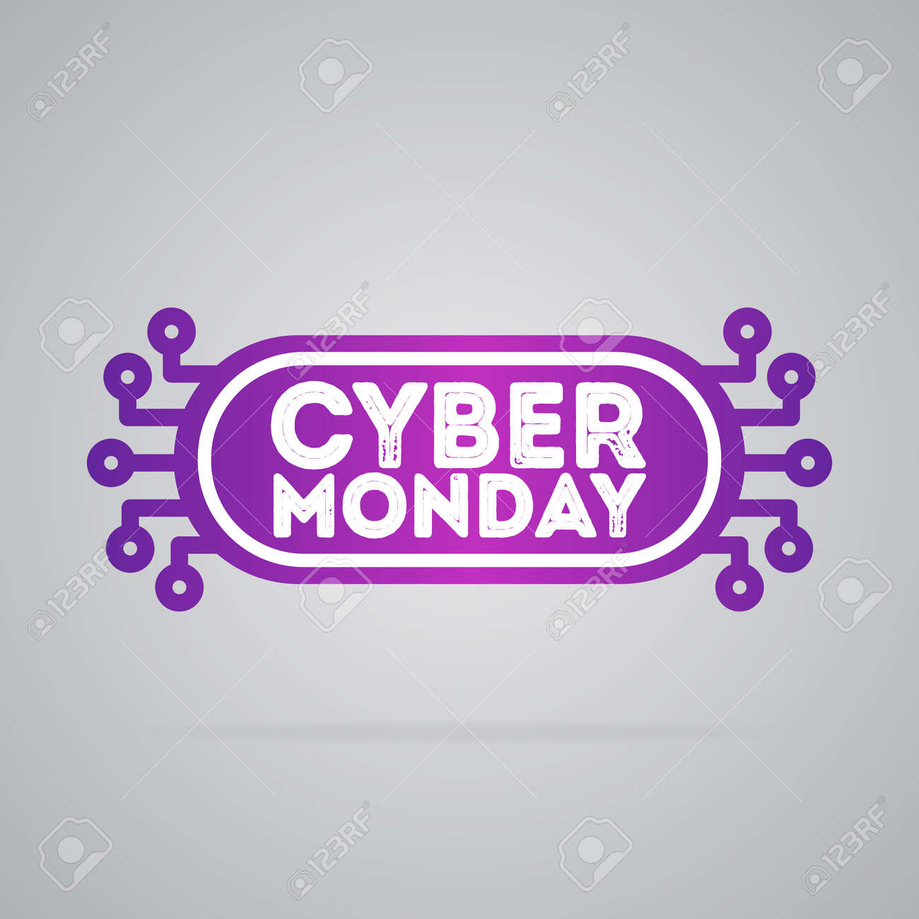 Cyber Montag Stock Photo