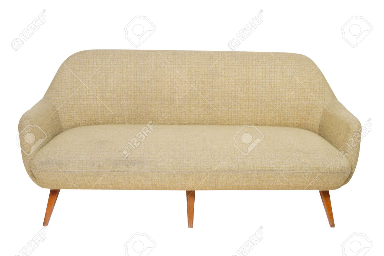 Vintage Couch Vintage Sofa On White Background