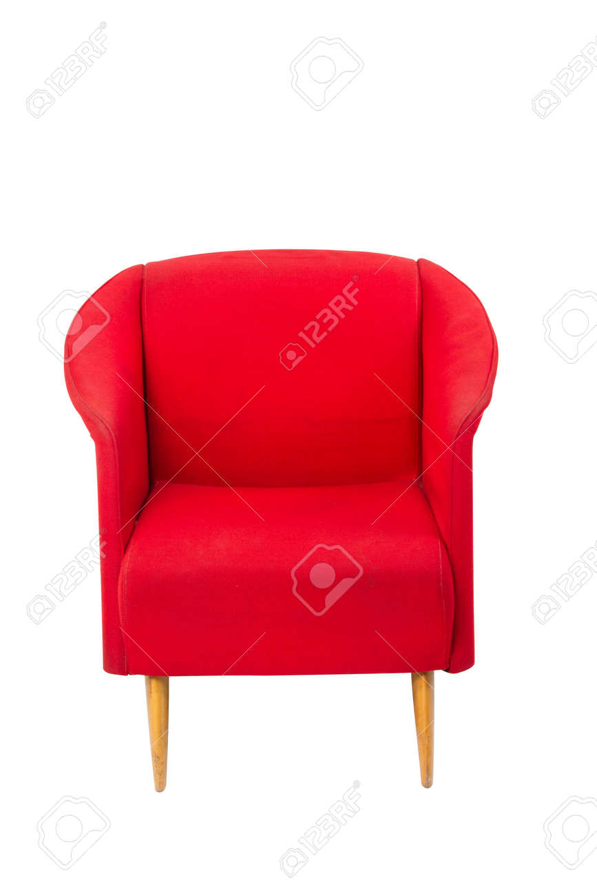 Fauteuil Rouge Moderne Modern Styled Red Armchair On White Background