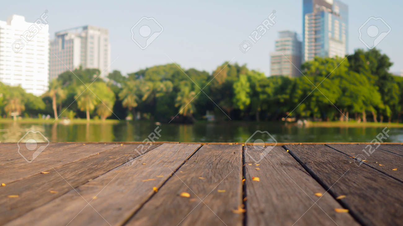 Terrasse Welches Holz Stock Photo