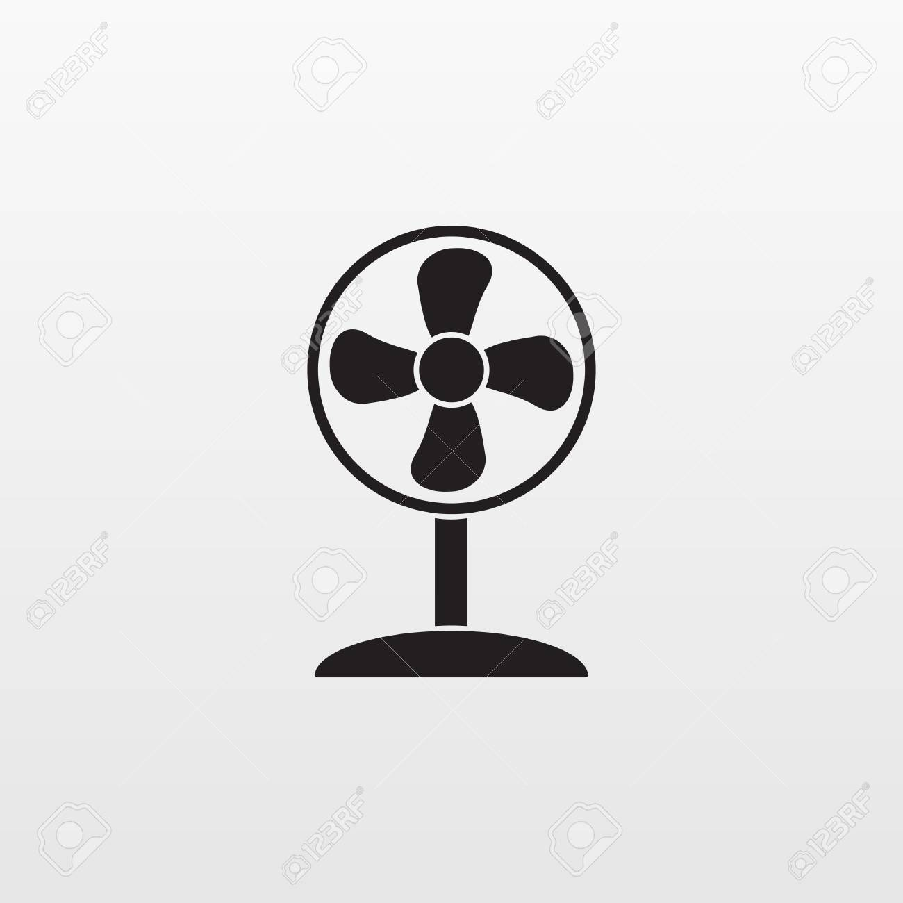 Ventilator Modern Gray Fan Icon Isolated Background Modern Simple Flat Ventilator
