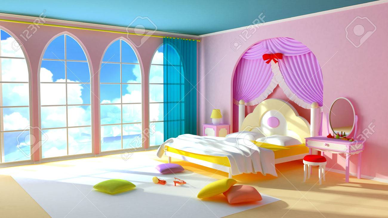 Schlafzimmer Bunt Stock Photo