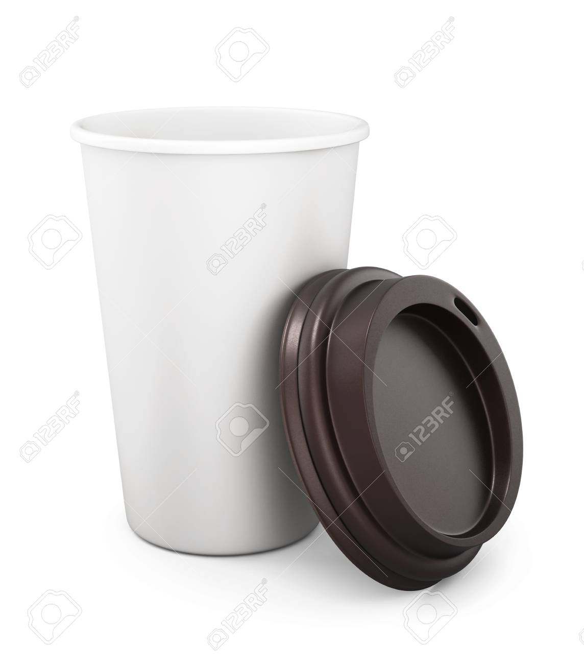 Tasse Mit Deckel Stock Photo