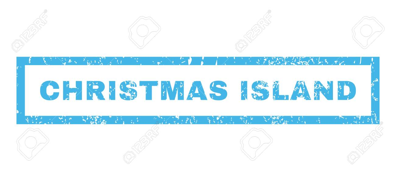 Christmas Island Text Rubber Seal Stamp Watermark Tag Inside - watermark christmas
