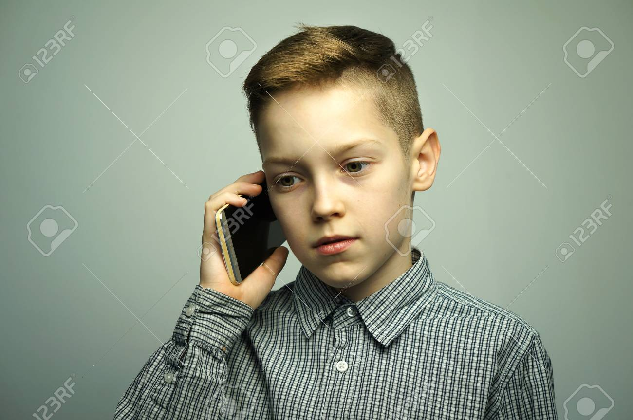 Teenager Haarschnitt Stock Photo