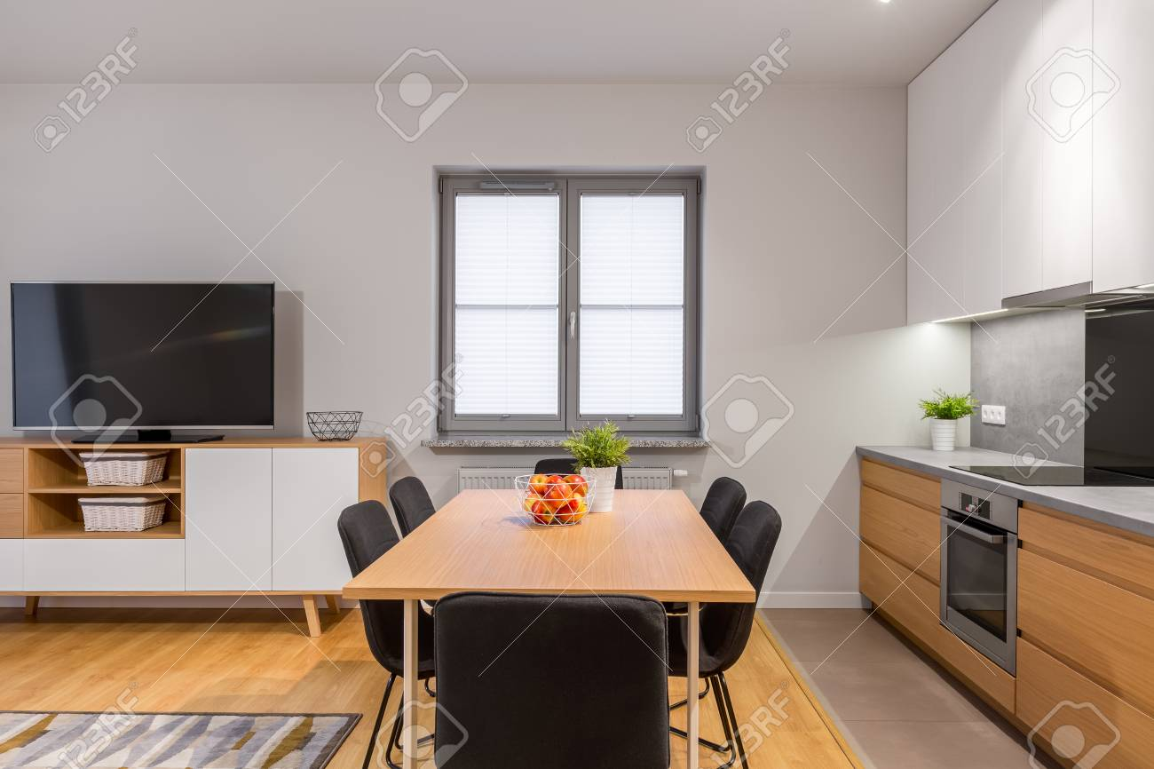 Küche Esszimmer Modern Stock Photo
