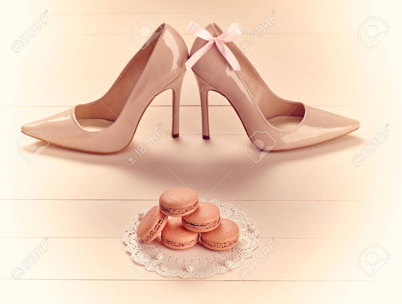 High Heels Hochzeit Stock Photo