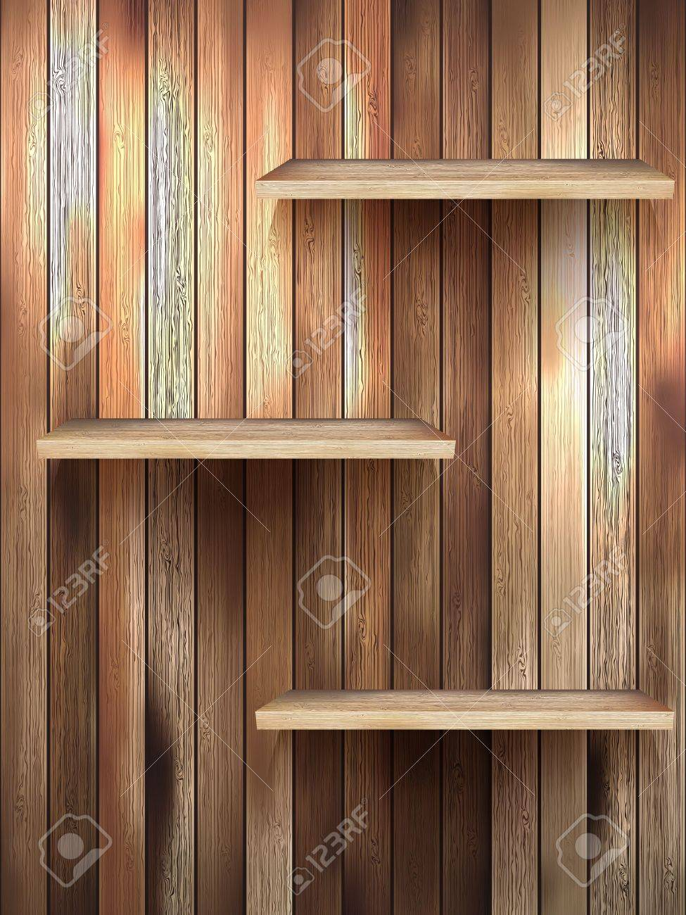 Regal Holz Stock Photo