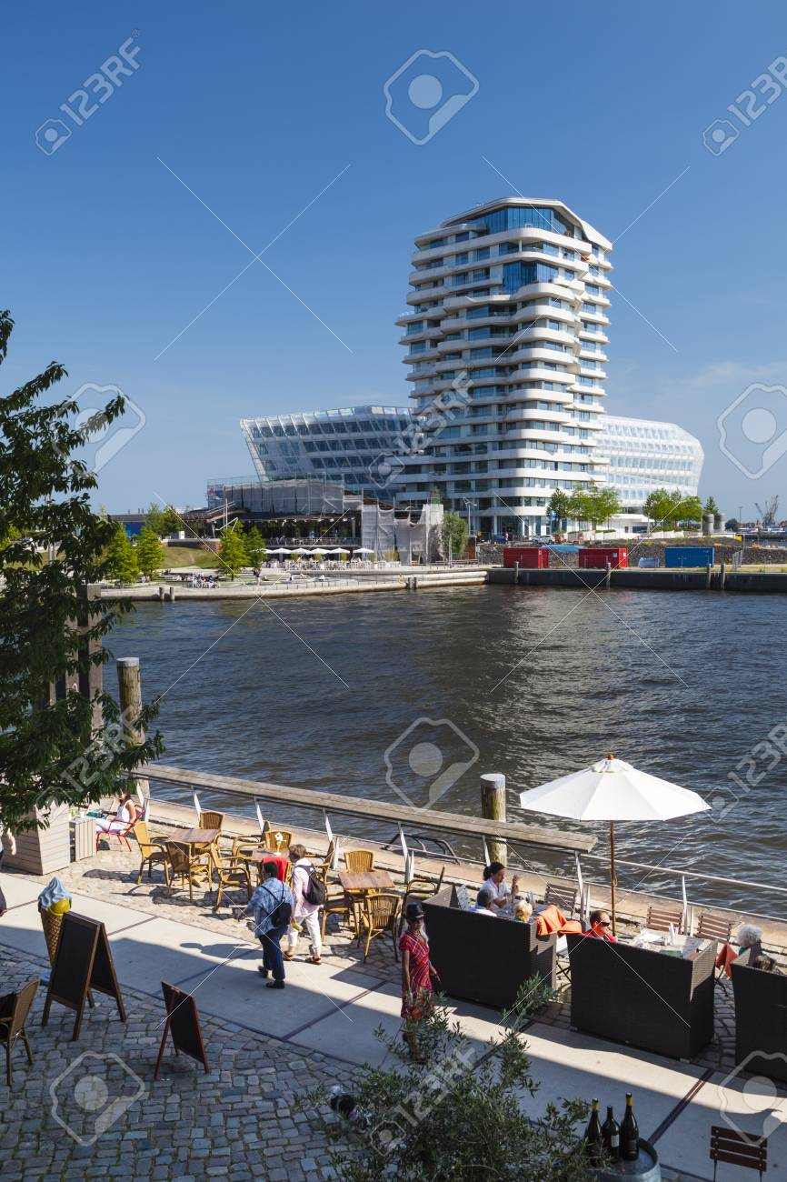 Marco Polo Tower Hamburg, Germany - July 7: The Marco Polo Tower In The Hafencity.. Stock Photo, Picture And Royalty Free Image. Image 46218878.