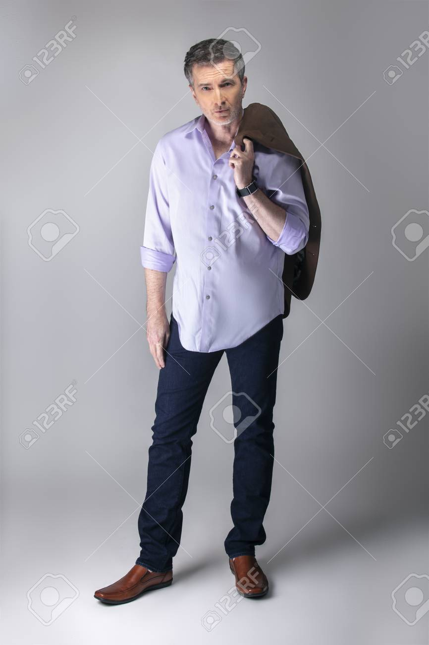Outfit Business Casual Middle Aged Businessman Wearing Business Casual Outfit The