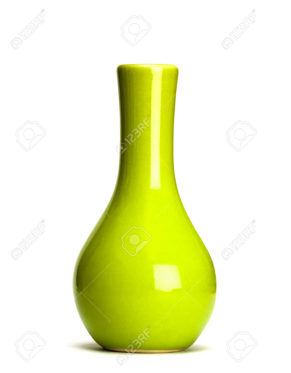 Grüne Vase Stock Photo
