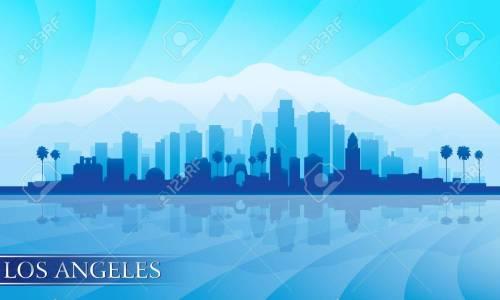 Medium Of Los Angeles Skyline Silhouette
