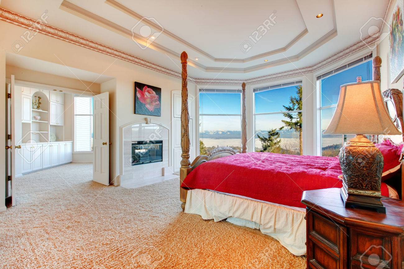 Stunning Luxury Master Bedroom With Rich Bedroom Furniture And Stock Photo Picture And Royalty Free Image Image 25651412