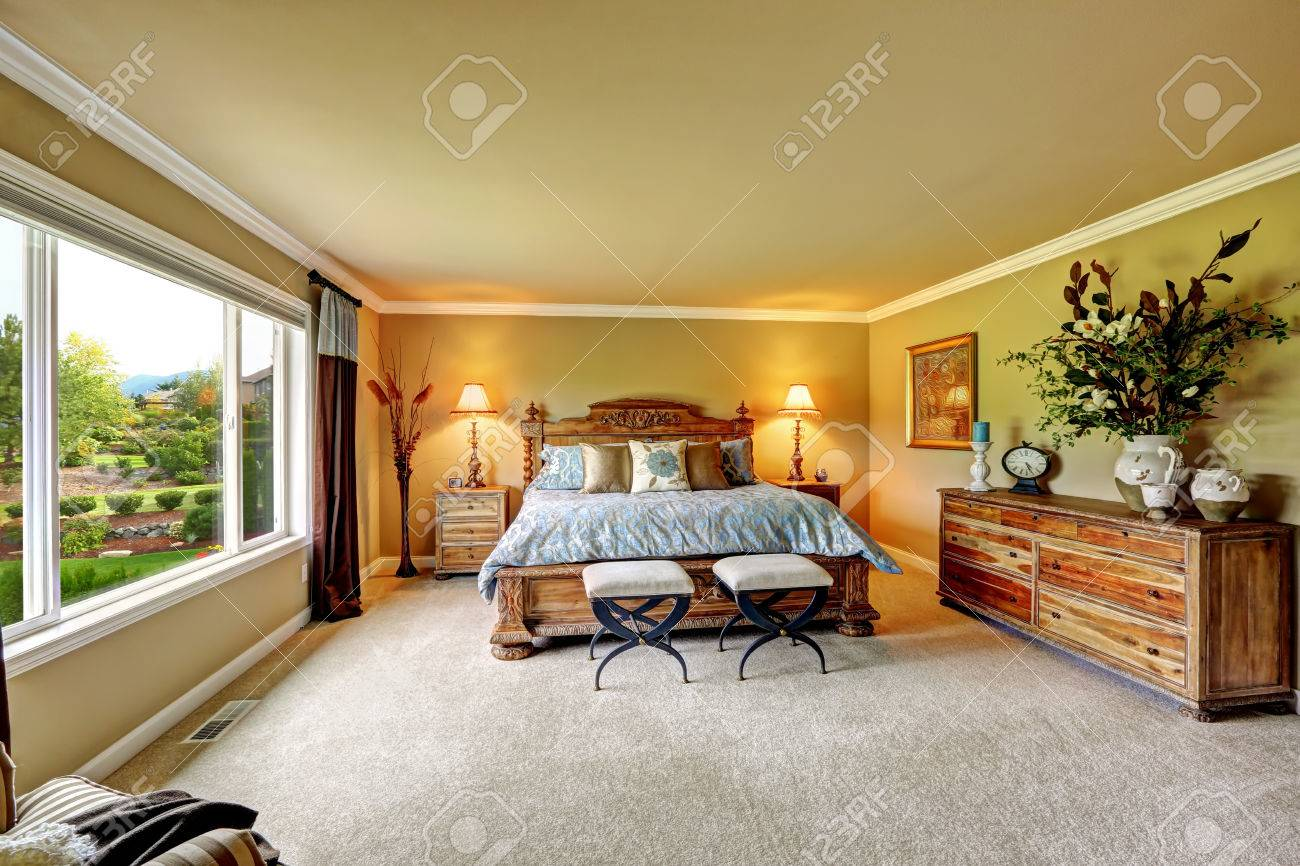 Luxuriöse Schlafzimmer Stock Photo
