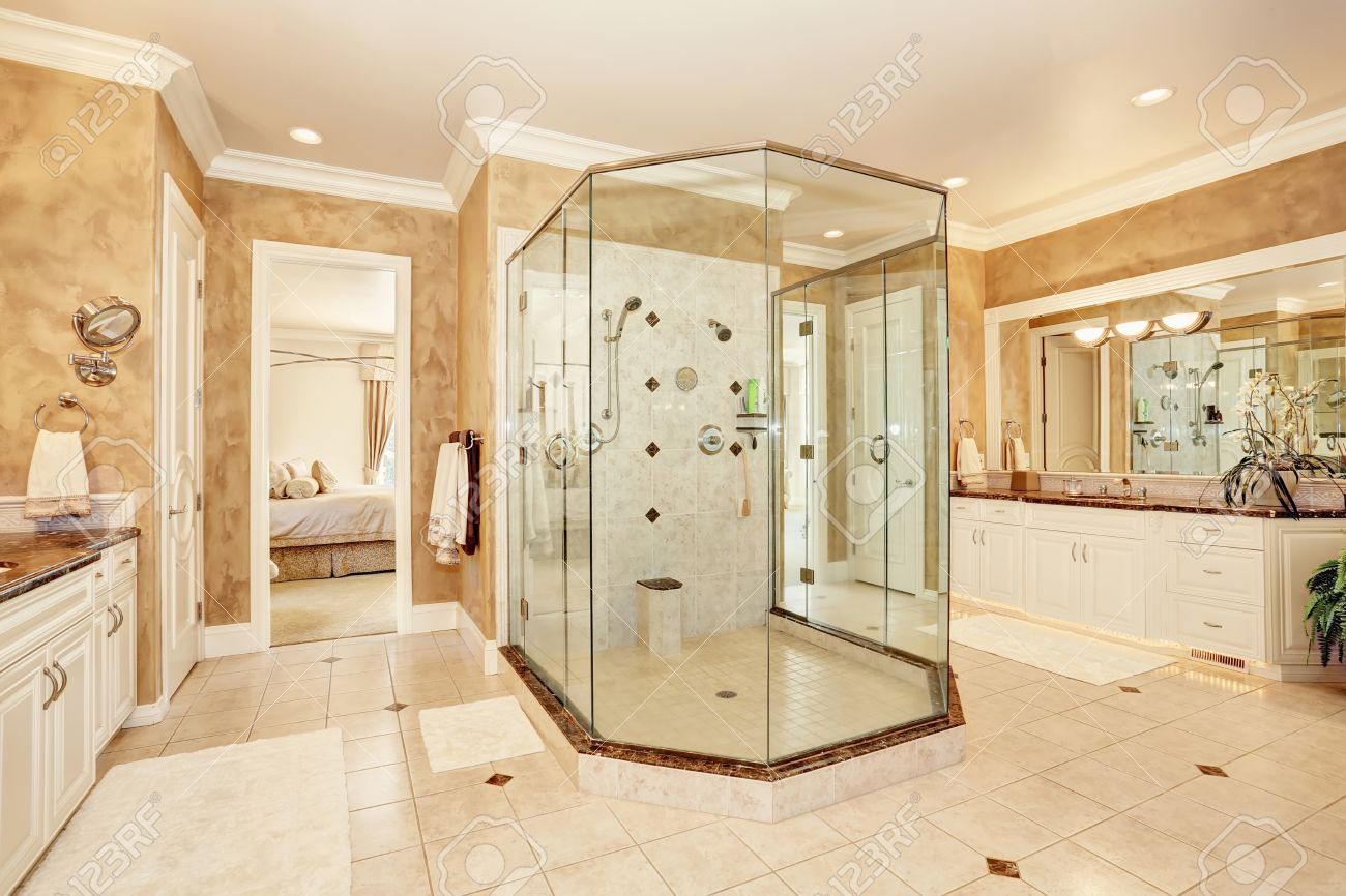 Badezimmer Beige Stock Photo