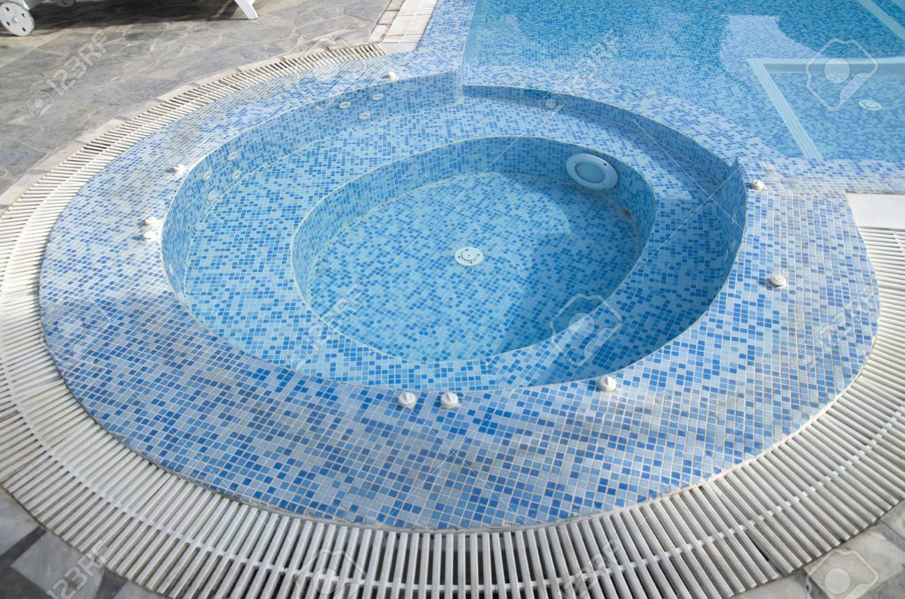 Jacuzzi In The Pool Round Jacuzzi In The Outdoor Pool In Sunny Day