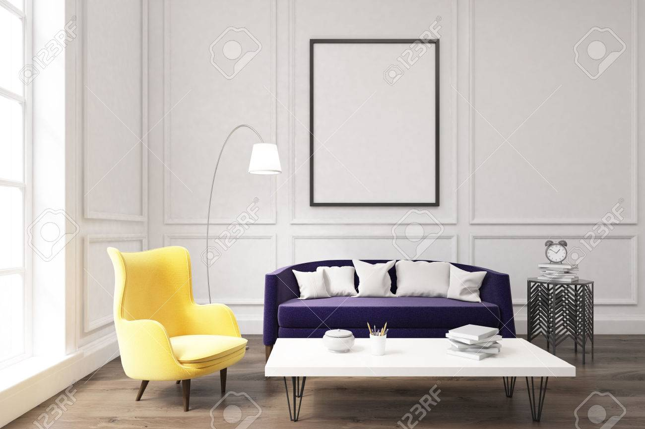 Couchtisch Lila Stock Photo