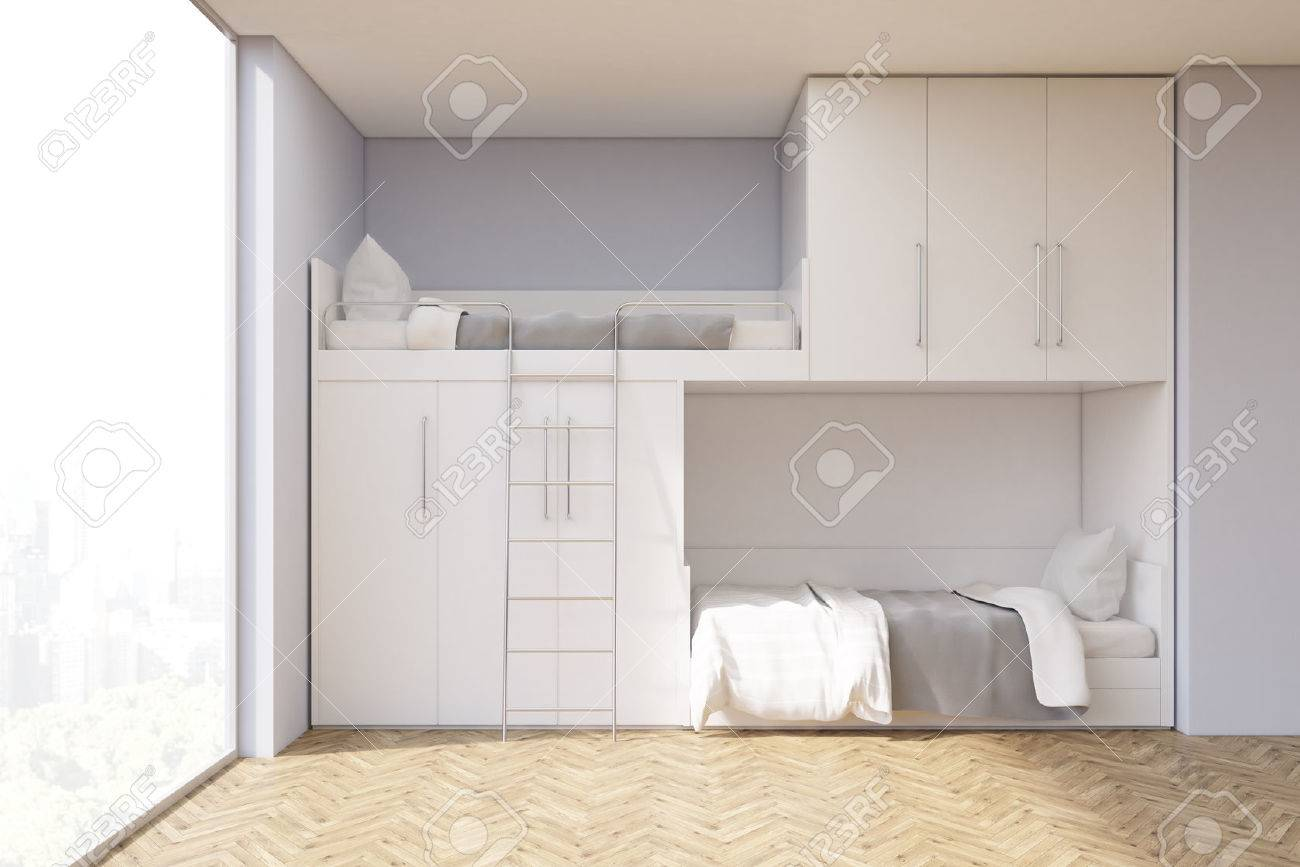 Jugendzimmer Schrank Bett Stock Photo