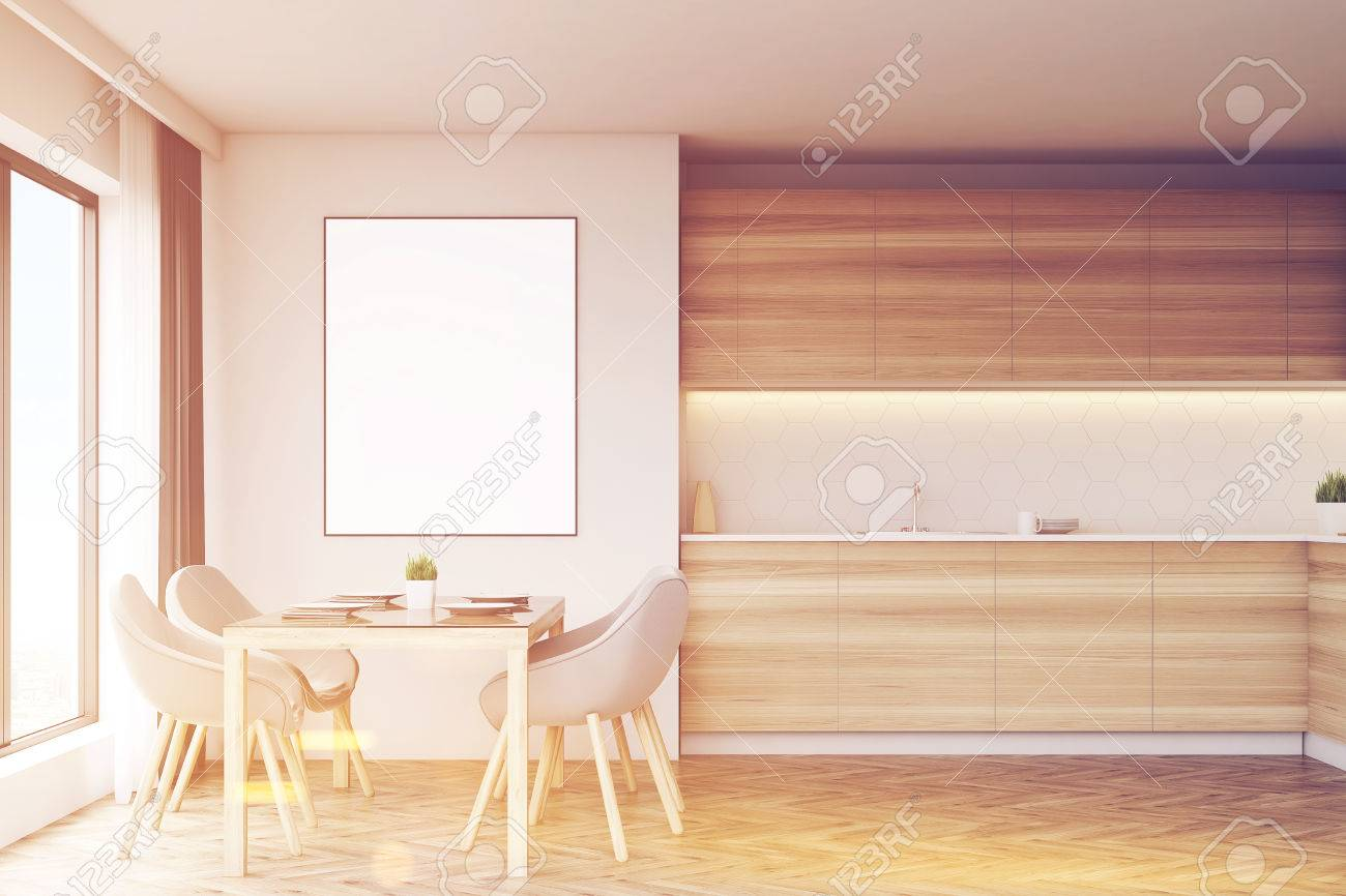 Arbeitsplatten Holz Stock Photo