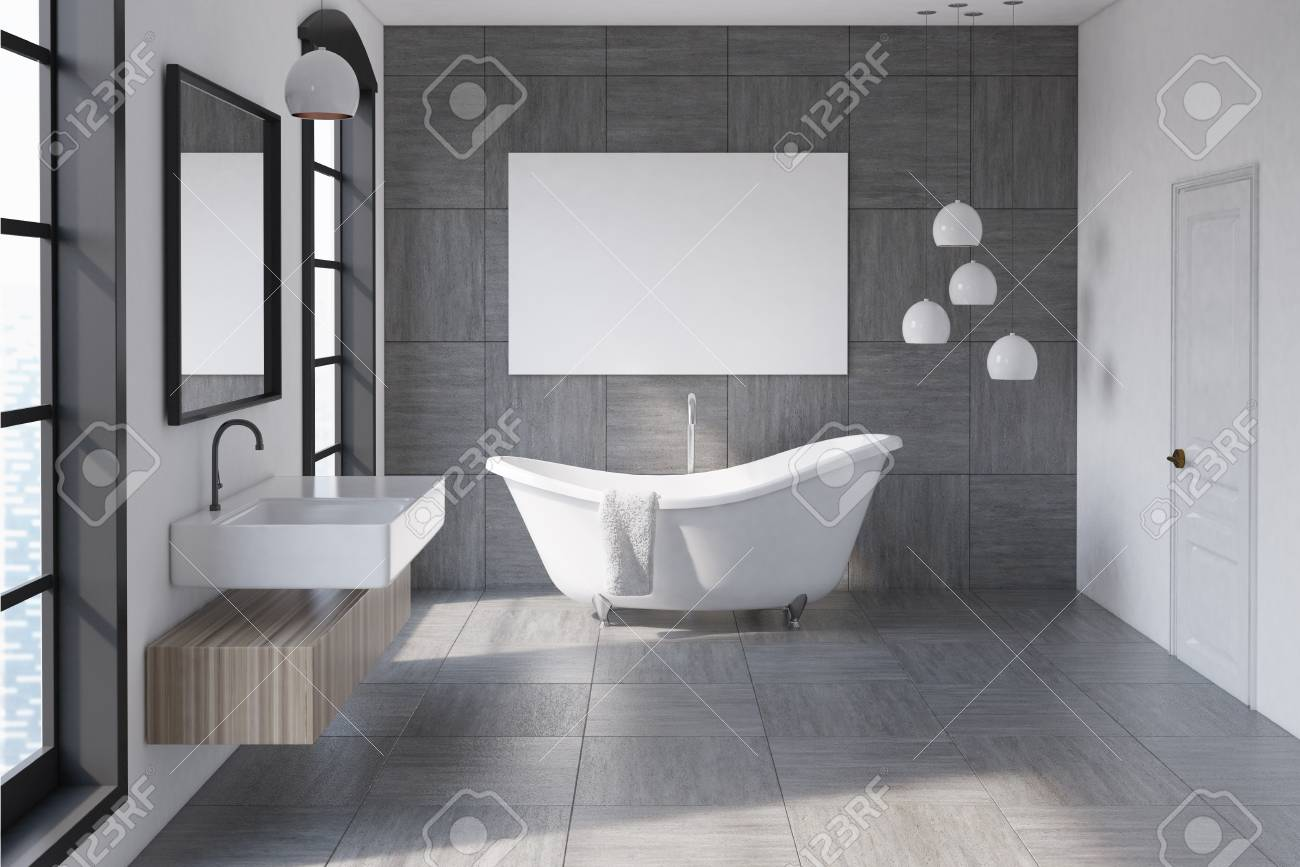 Badewanne Wand Stock Photo
