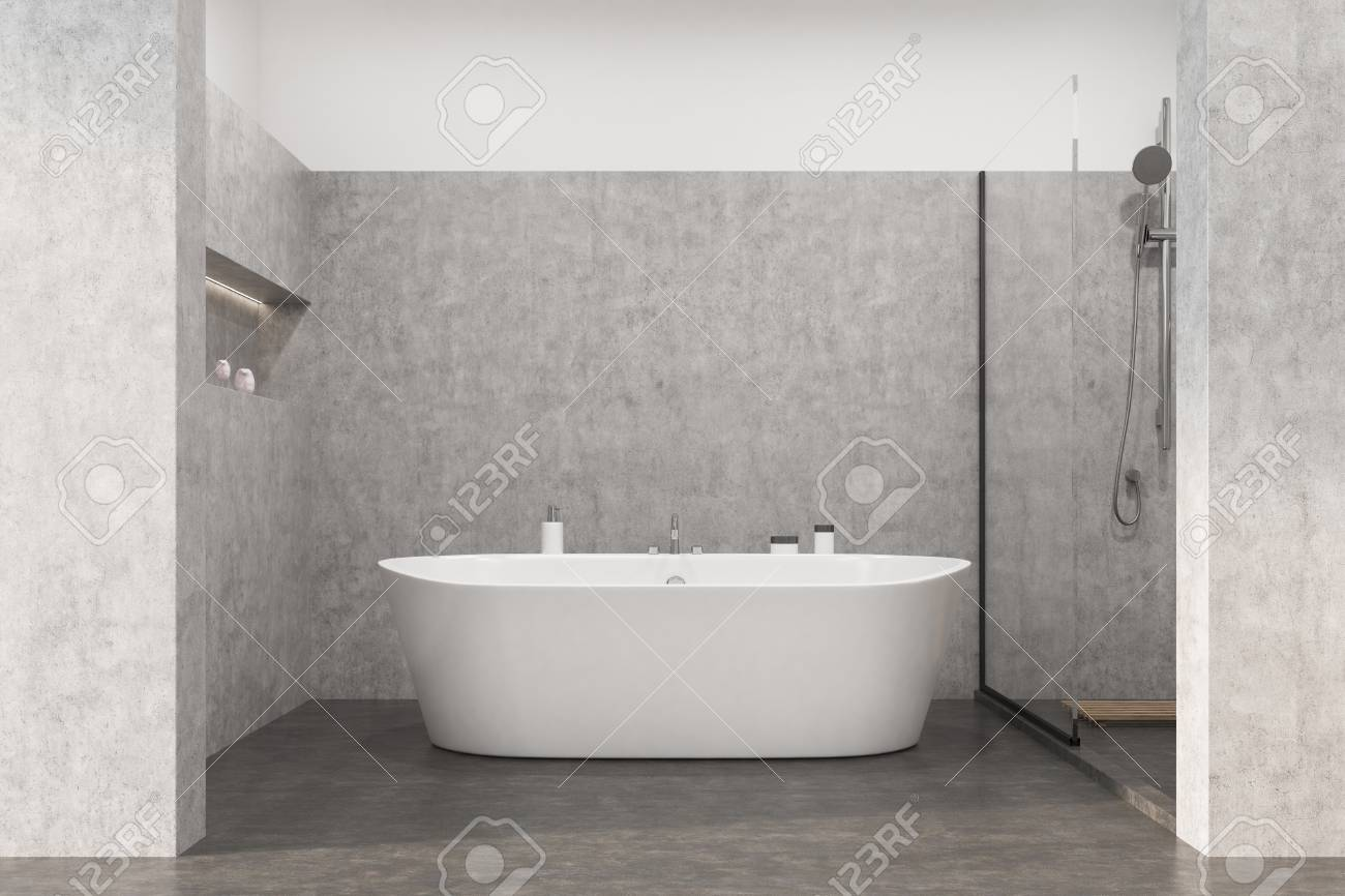 Dusche Nische Stock Photo