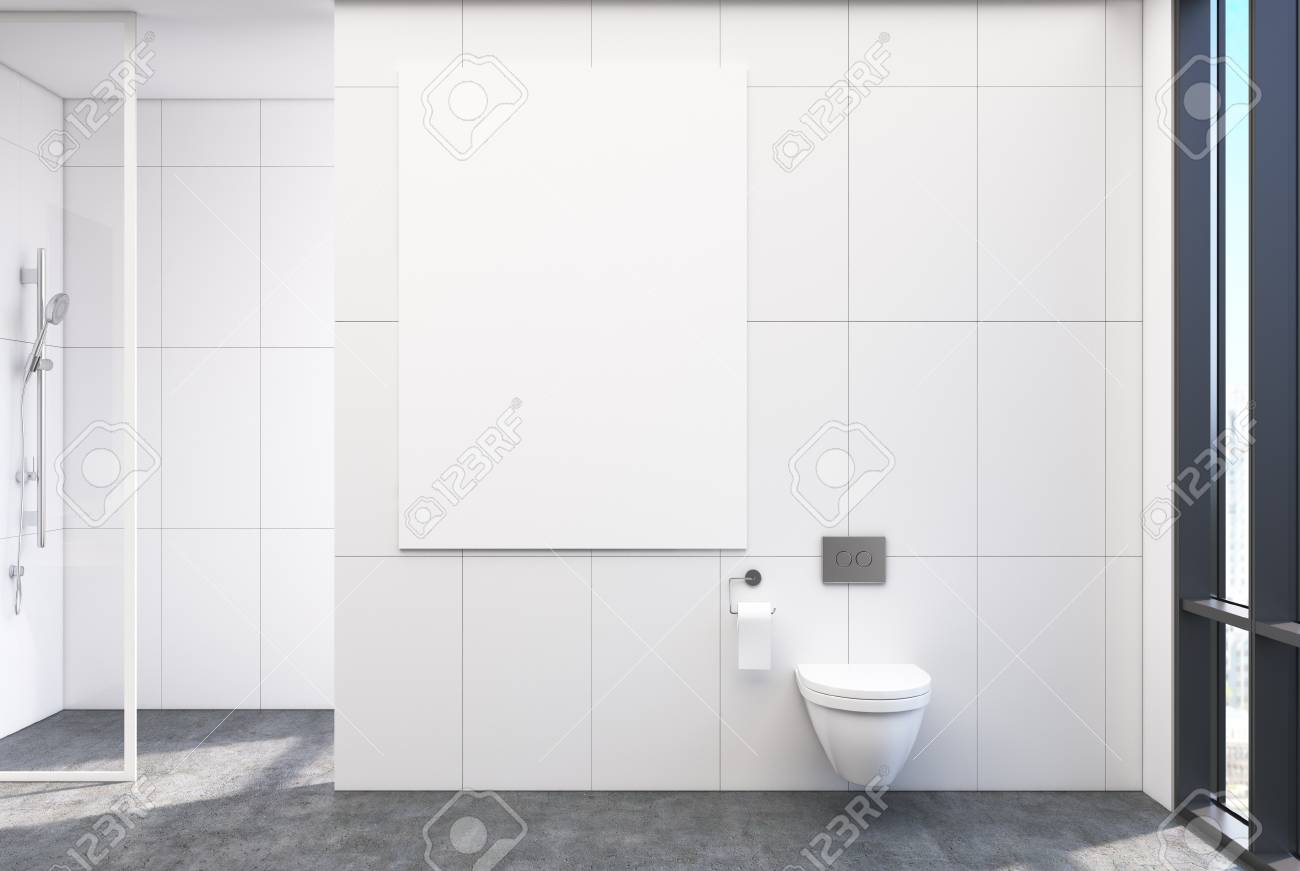 Dusche Glaswand Stock Photo