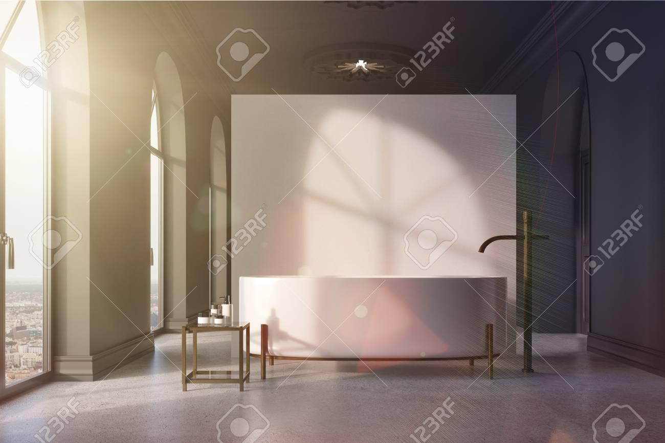 Salle De Bain Sol Gris Mur Blanc | Carrelage Mural Et Faaence Pour ...