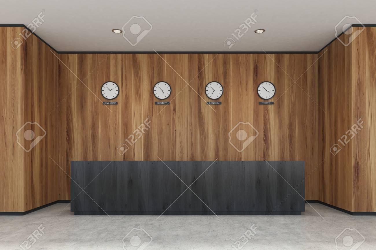 Bureau moderne bois bureau moderne en bois illustration stock